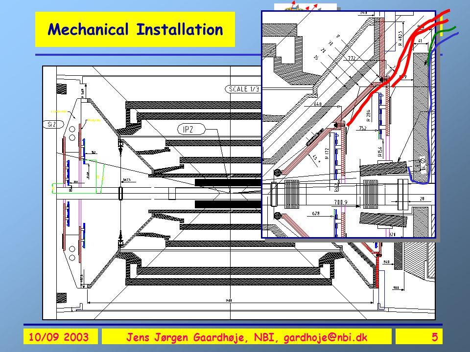 ALICE Si-FMD 10/09 2003Jens Jørgen Gaardhøje, NBI, gardhoje@nbi.dk5 Mechanical Installation