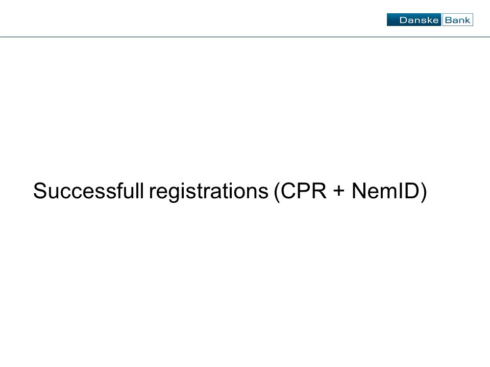 Successfull registrations (CPR + NemID)