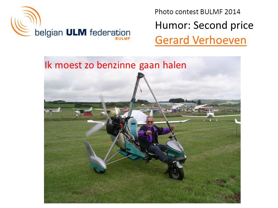Photo contest BULMF 2014 Humor: Second price Gerard Verhoeven Ik moest zo benzinne gaan halen