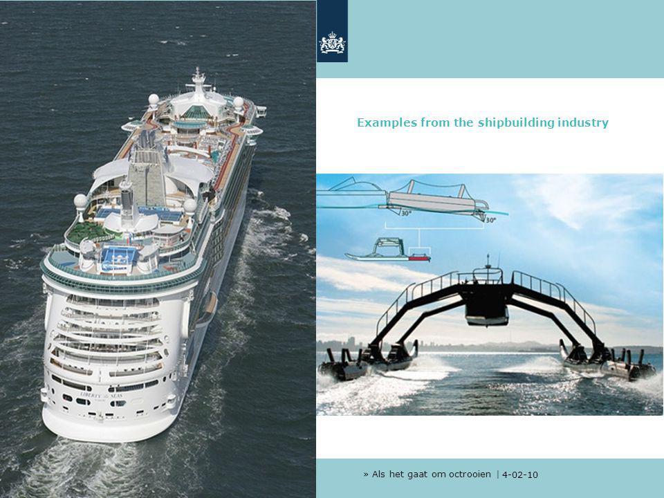 » Als het gaat om octrooien | 4-02-10 1 Examples from the shipbuilding industry