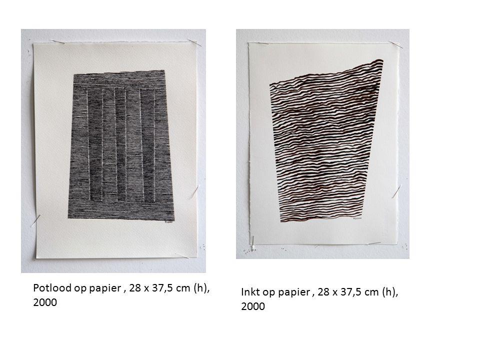 Potlood op papier, 28 x 37,5 cm (h), 2000 Inkt op papier, 28 x 37,5 cm (h), 2000