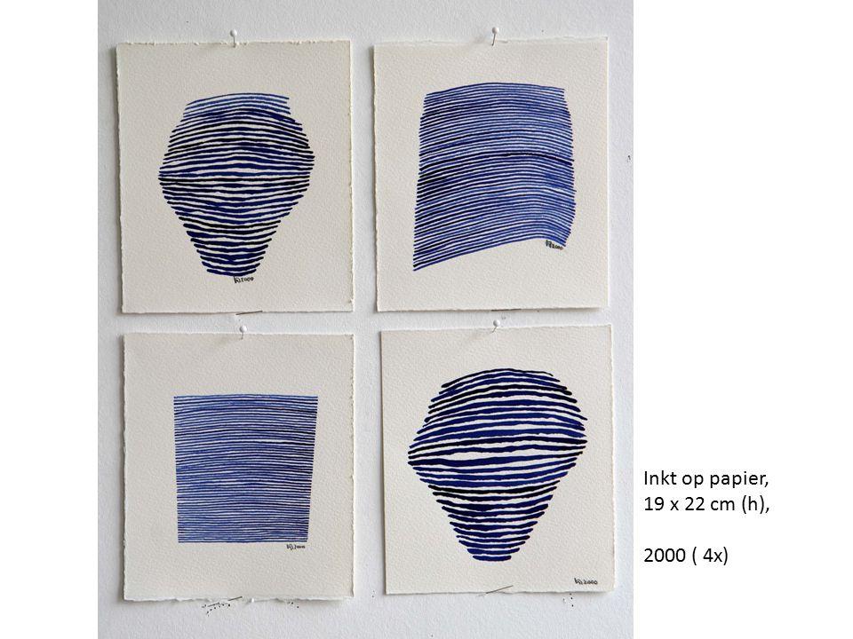 Inkt op papier, 19 x 22 cm (h), 2000 ( 4x)