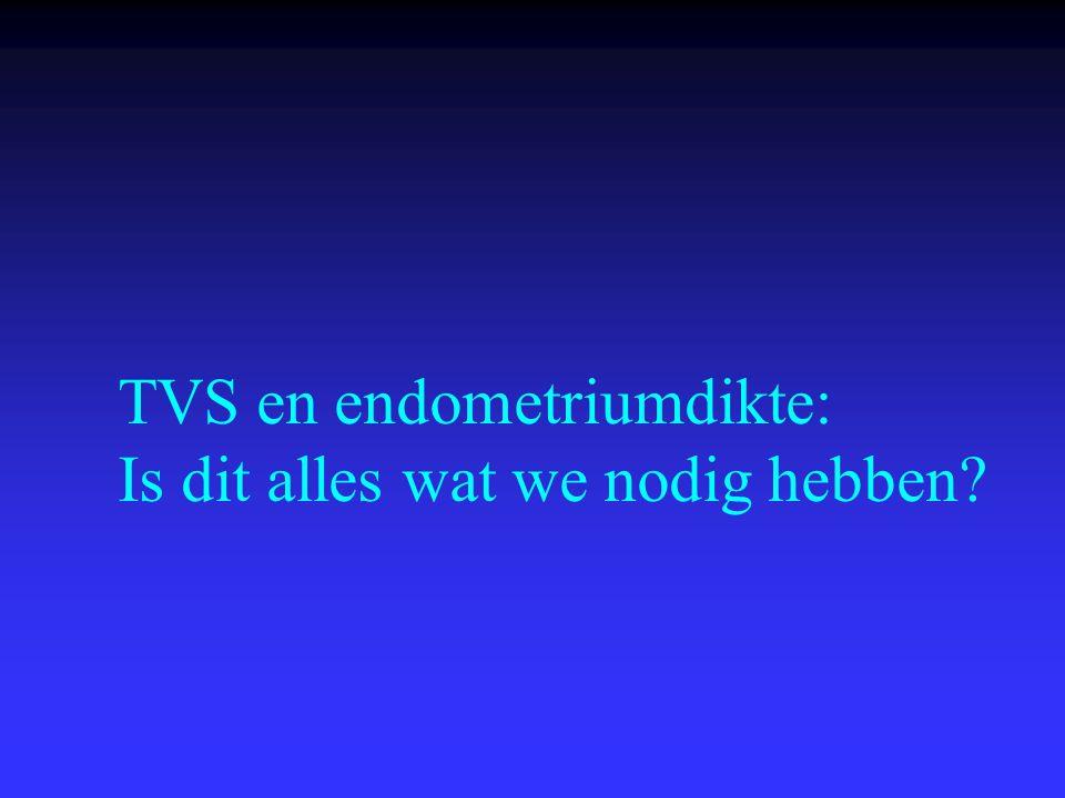 TVS en endometriumdikte: Is dit alles wat we nodig hebben?