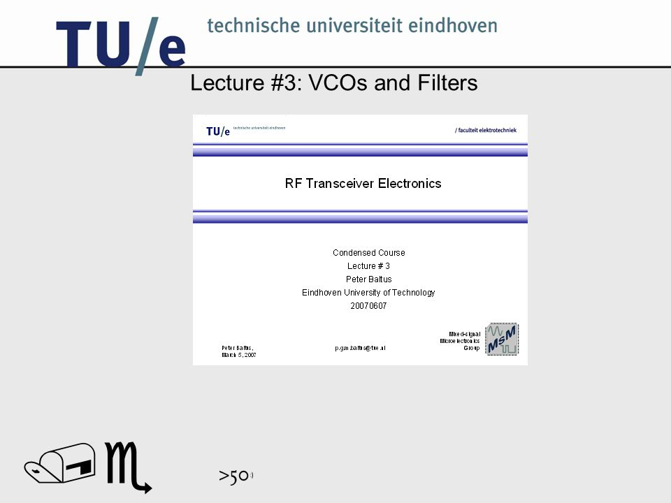 // Lecture #3: VCOs and Filters
