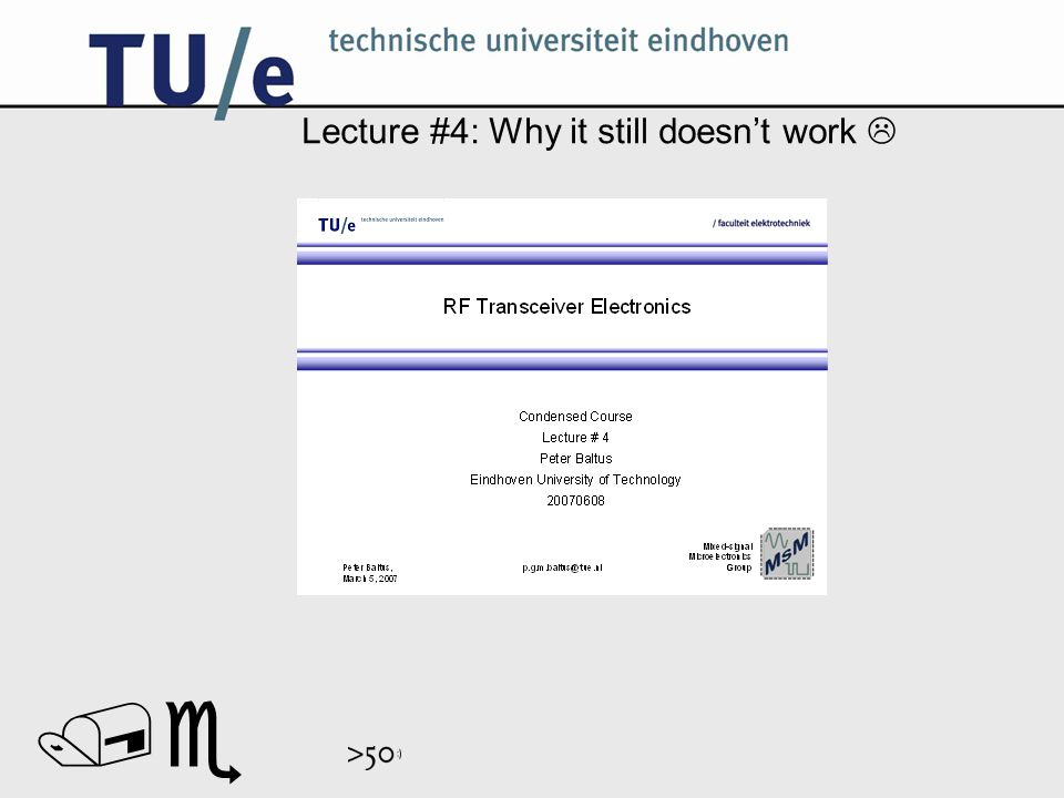 // Lecture #4: Why it still doesn't work 