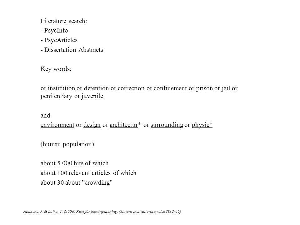 Janssens, J. & Laike, T. (2006) Rum för återanpassning.