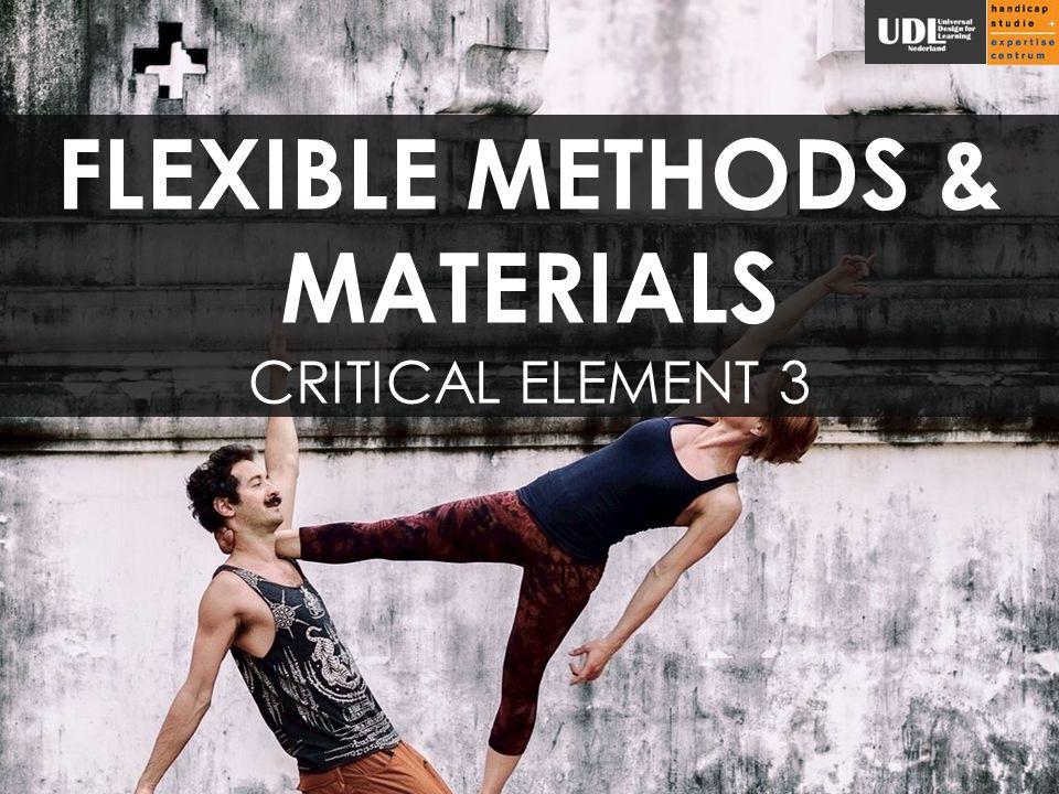 FLEXIBLE METHODS & MATERIALS CRITICAL ELEMENT 3
