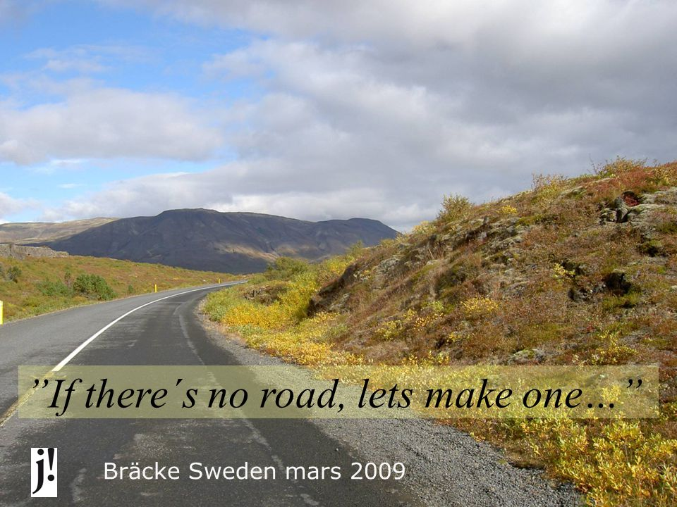 If there´s no road, lets make one… Bräcke Sweden mars 2009 OUR SCHOOL – ADULT EDUCATION: Electricity Heavy vehicle Health Care Hotel & Restaurant Swedish For Immigrants Social science Natural Science Handicap We also design courses for companies.