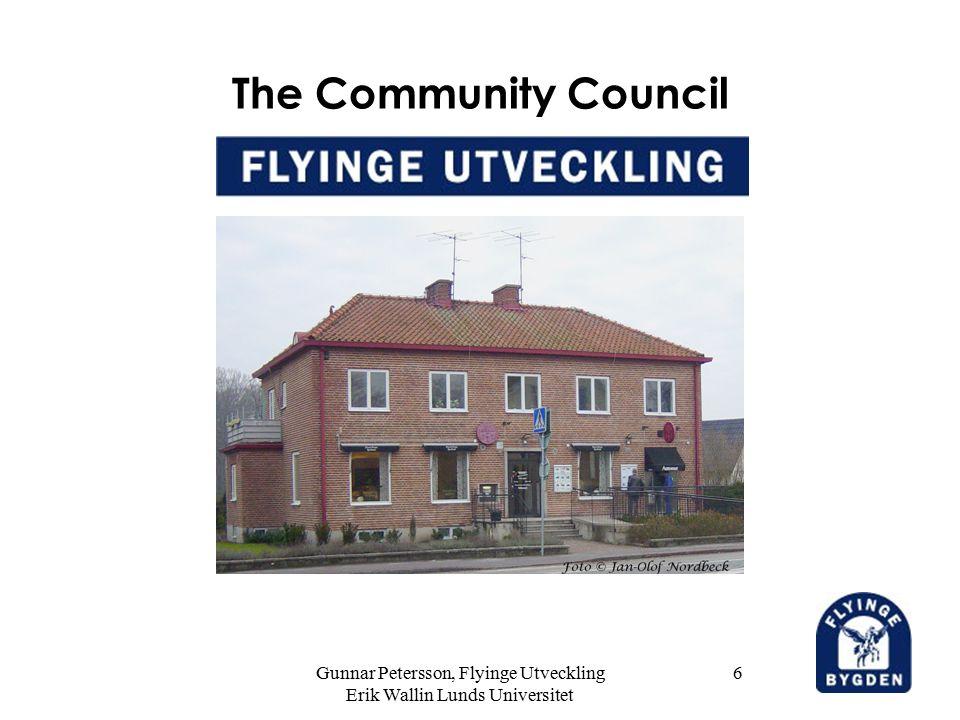 Gunnar Petersson, Flyinge Utveckling Erik Wallin Lunds Universitet 7 The logotype of the Flyinge community.