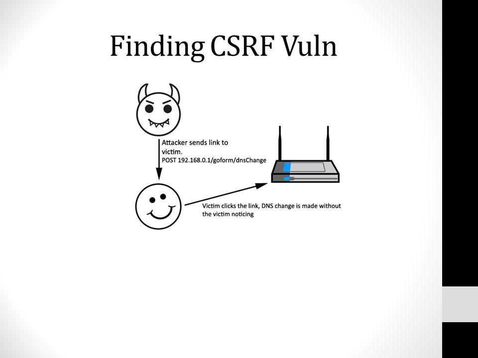 Finding CSRF Vuln