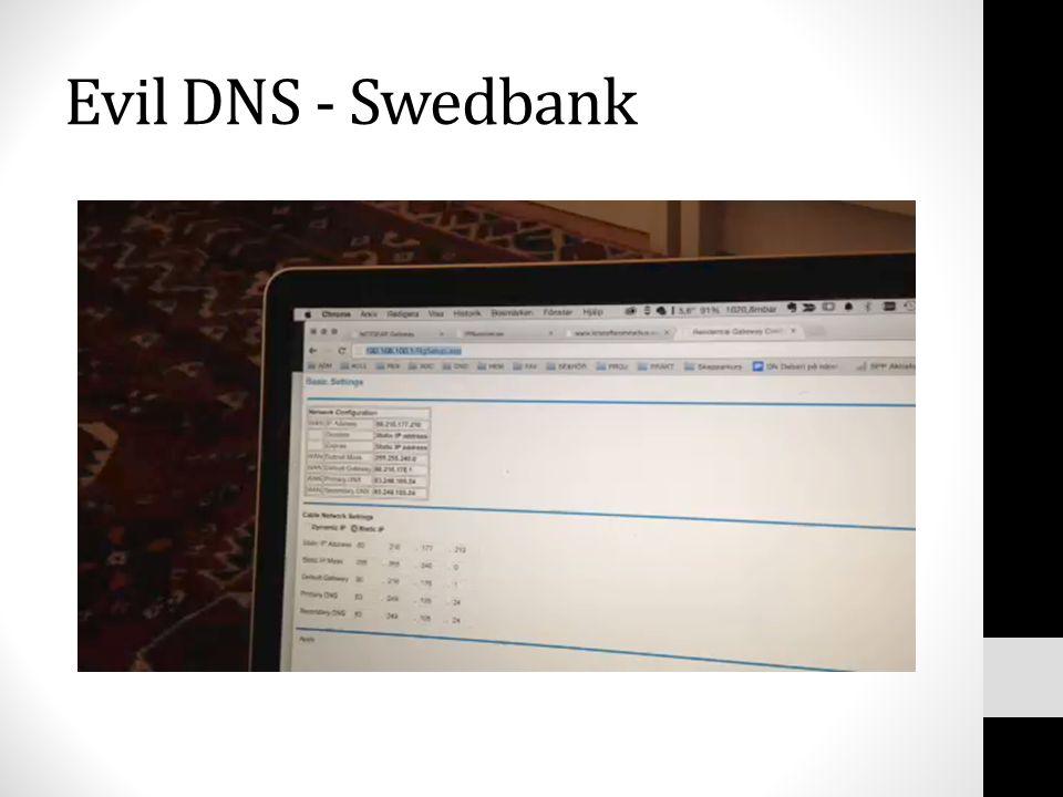 Evil DNS - Swedbank