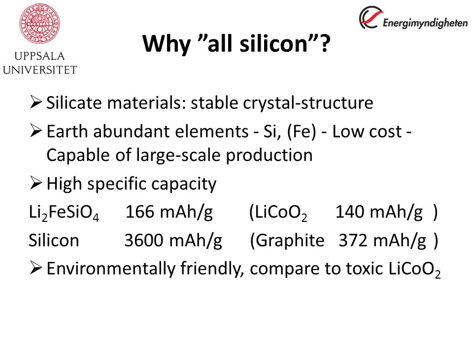 Why all silicon .