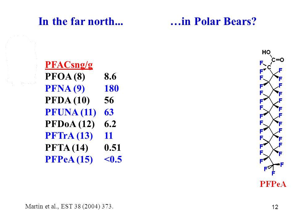 12 In the far north... …in Polar Bears.