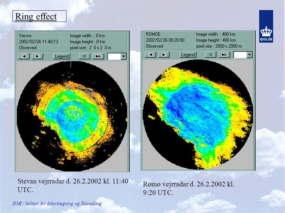 DMI / Sektion for Iskortlægning og Telemåling Ring effect Stevns vejrradar d.