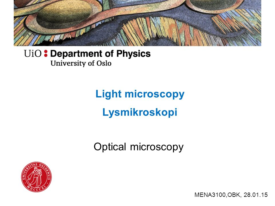 Det sammensatte mikroskop ca.