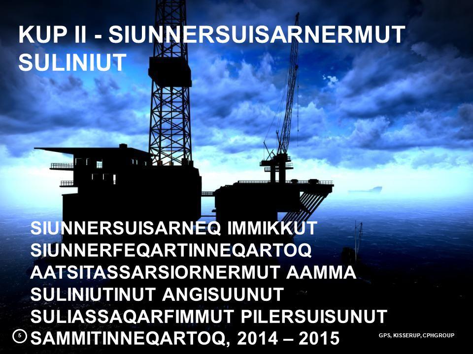 5GPS, KISSERUP, CPHGROUP SIUNNERSUISARNEQ IMMIKKUT SIUNNERFEQARTINNEQARTOQ AATSITASSARSIORNERMUT AAMMA SULINIUTINUT ANGISUUNUT SULIASSAQARFIMMUT PILERSUISUNUT SAMMITINNEQARTOQ, 2014 – 2015 KUP II - SIUNNERSUISARNERMUT SULINIUT
