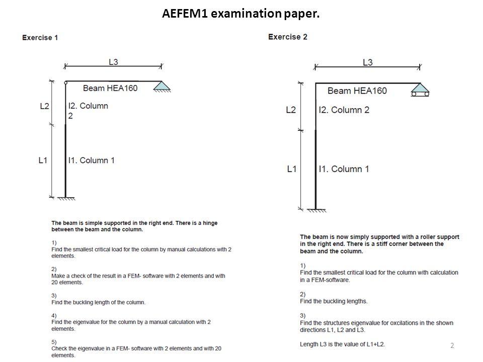 AEFEM1 examination paper. 2