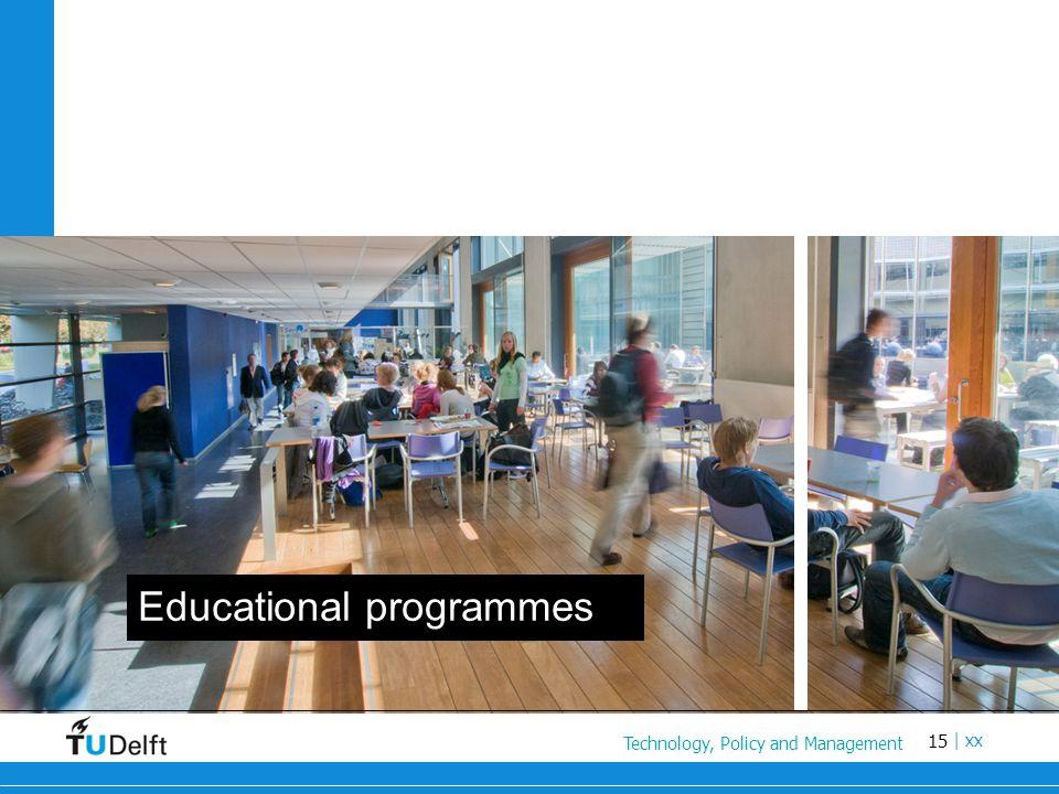 15 Titel van de presentatie | xx Educational programmes Technology, Policy and Management
