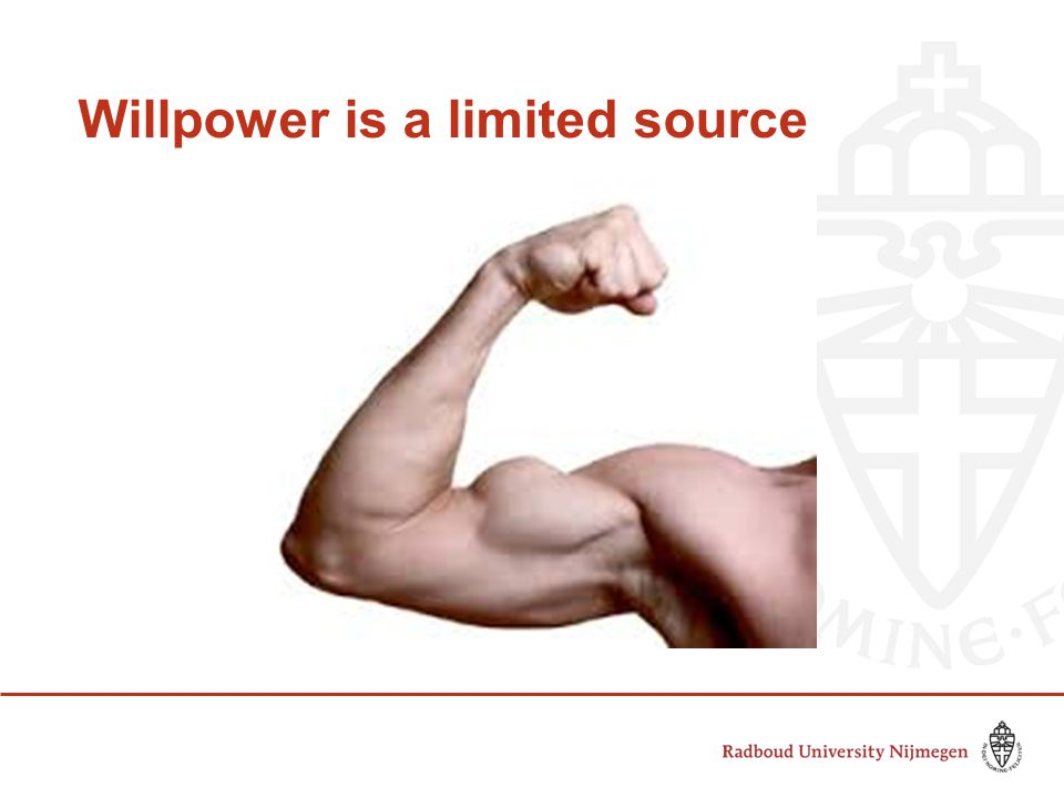 Willpower is a limited source