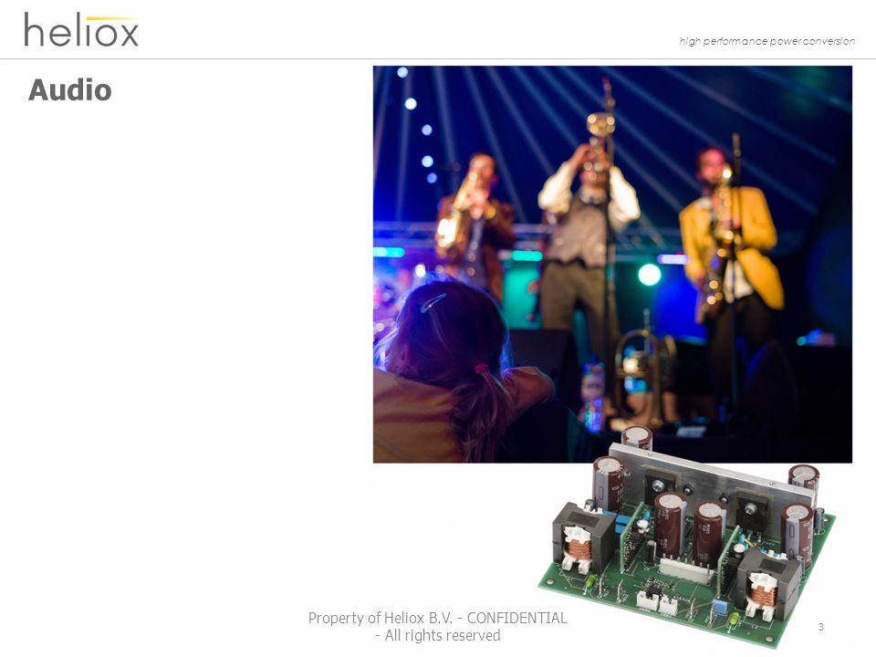 high performance power conversion HELIOX SMI-300 Solar Micro Inverter 54 Property of Heliox B.V.