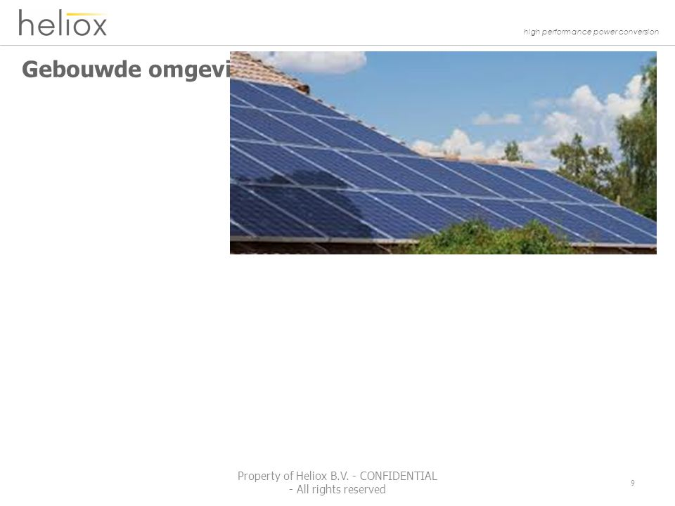 high performance power conversion Optimizer PV Solar System 40 Property of Heliox B.V.