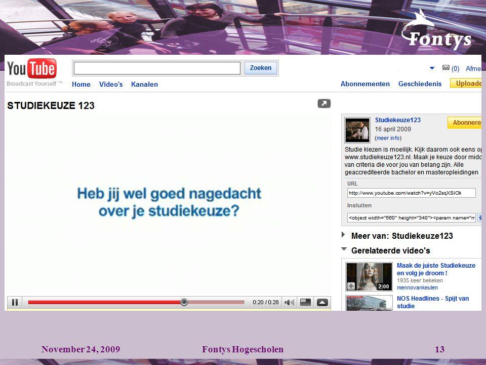 13November 24, 2009Fontys Hogescholen