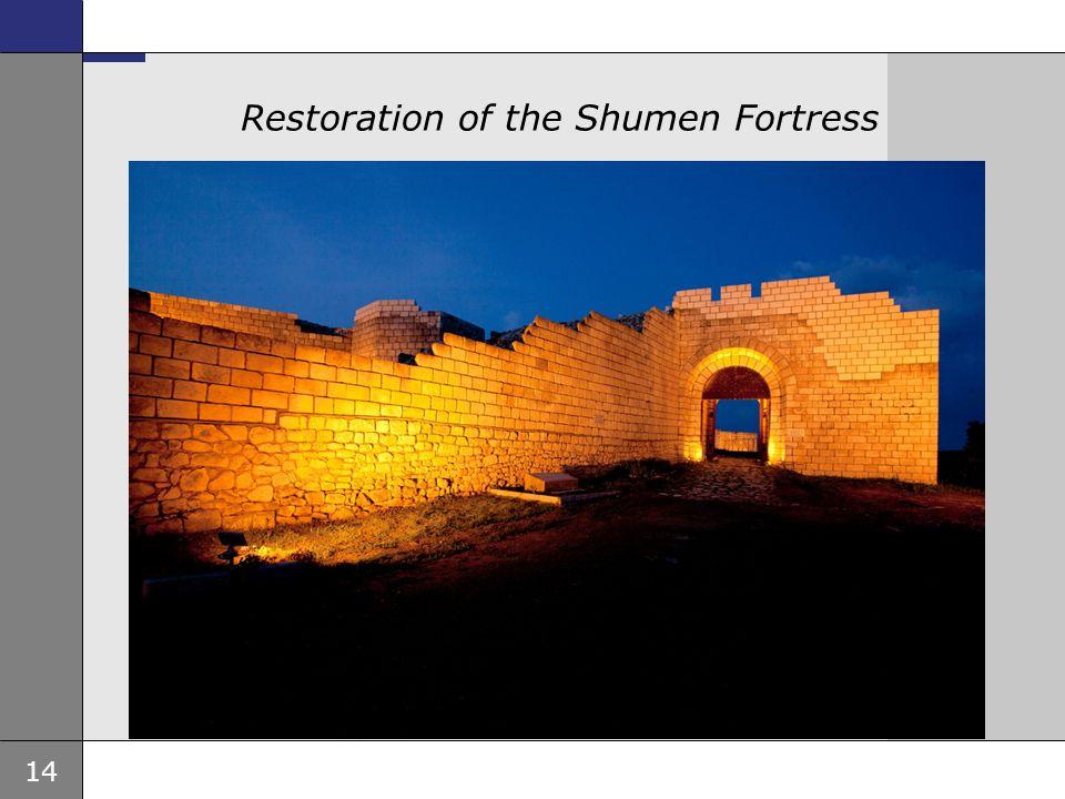 14 Ambassade, sted, tid og avsender Tema 16 pkt Restoration of the Shumen Fortress