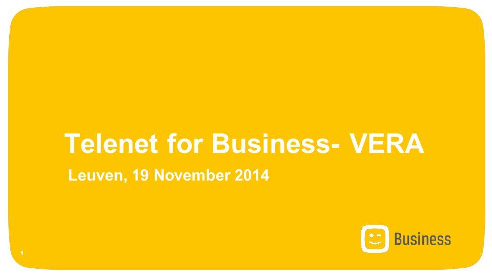 Telenet for Business- VERA Leuven, 19 November 2014 1
