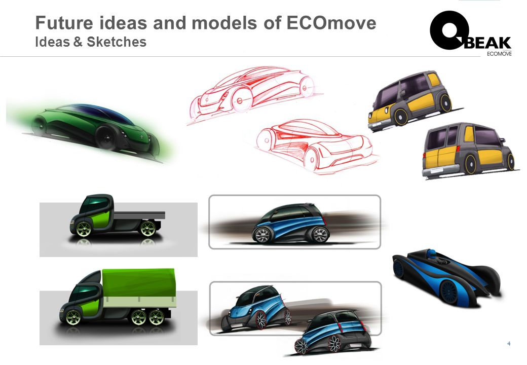 4 Future ideas and models of ECOmove Ideas & Sketches
