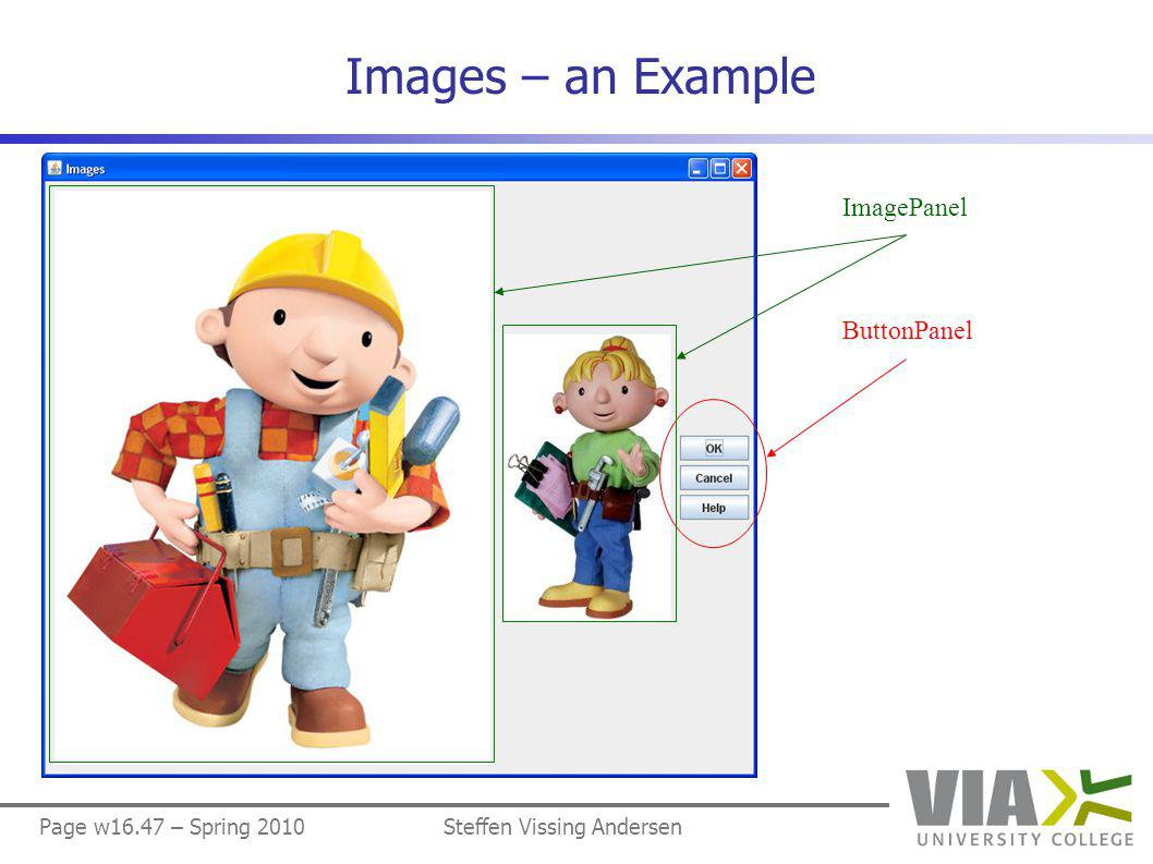 Page w16.47 – Spring 2010Steffen Vissing Andersen Images – an Example ImagePanel ButtonPanel