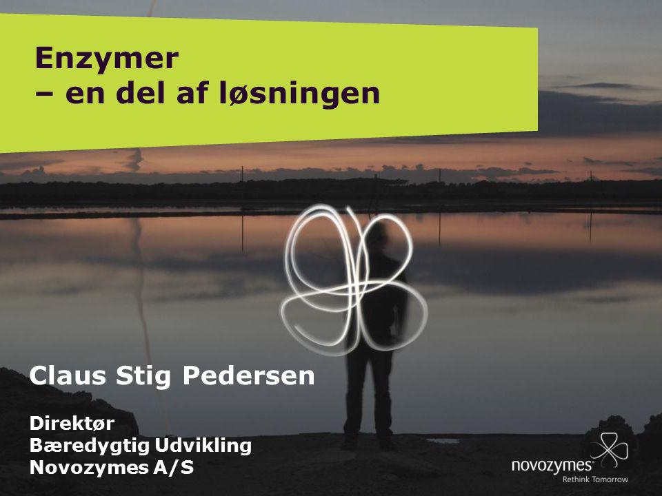 EB DIRECTORS MEETING, BÅSTAD, SWEDEN 09012 4 Claus Stig Pedersen Direktør Bæredygtig Udvikling Novozymes A/S Enzymer – en del af løsningen