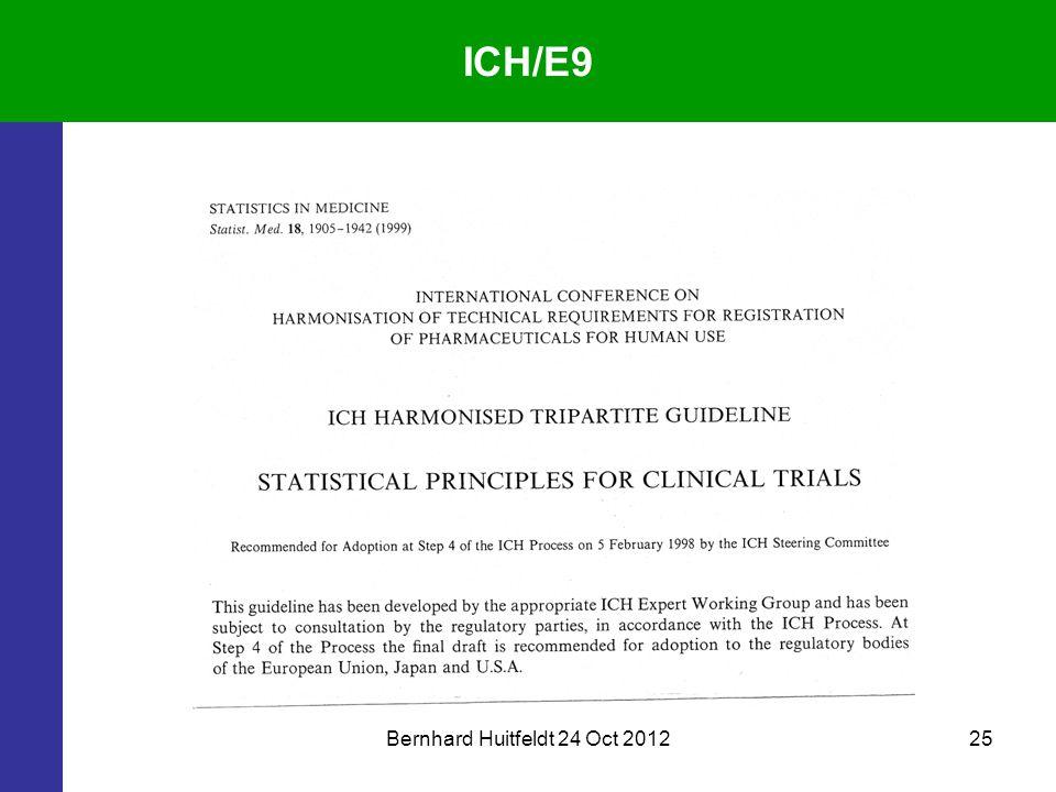 Bernhard Huitfeldt 24 Oct 201225 ICH/E9