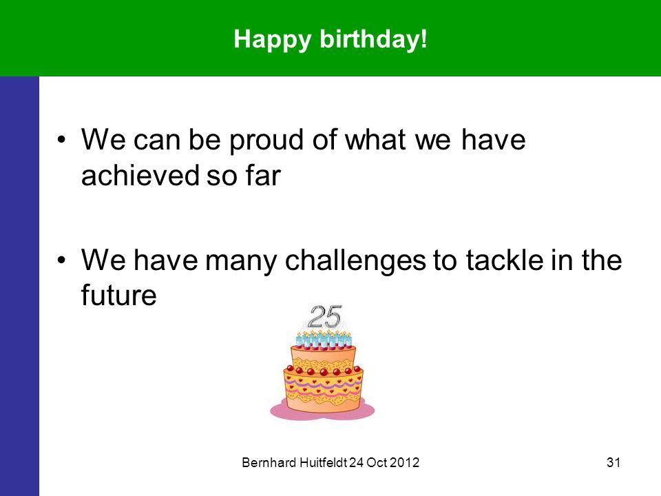 Bernhard Huitfeldt 24 Oct 201231 Happy birthday.