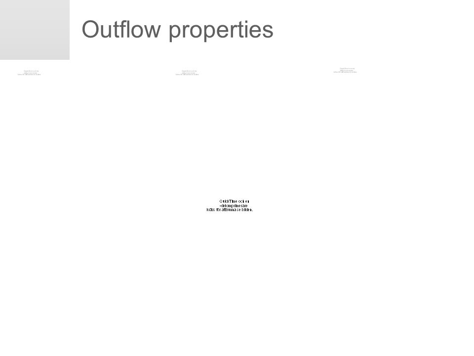 Erik Engwall May 15, 2008 Outflow properties