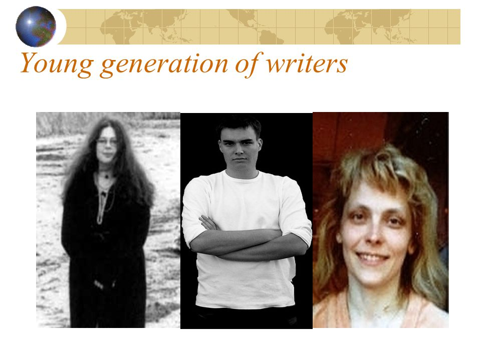 Young generation of writers