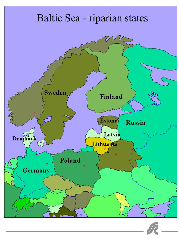 # # # # # # # # # # Sweden Finland Poland Russia Denmark Germany Estonia Latvia Lithuania Baltic Sea - riparian states