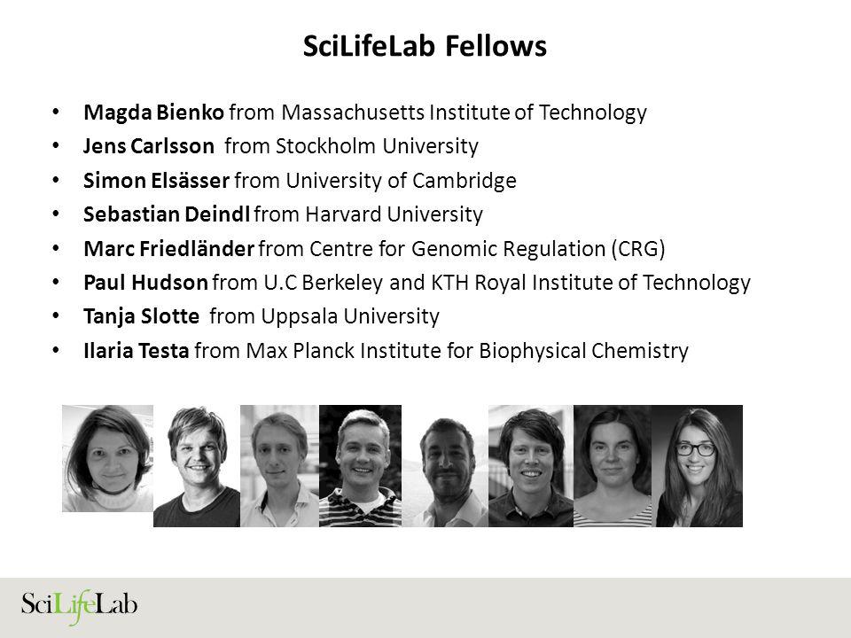 SciLifeLab Fellows Magda Bienko from Massachusetts Institute of Technology Jens Carlsson from Stockholm University Simon Elsässer from University of C