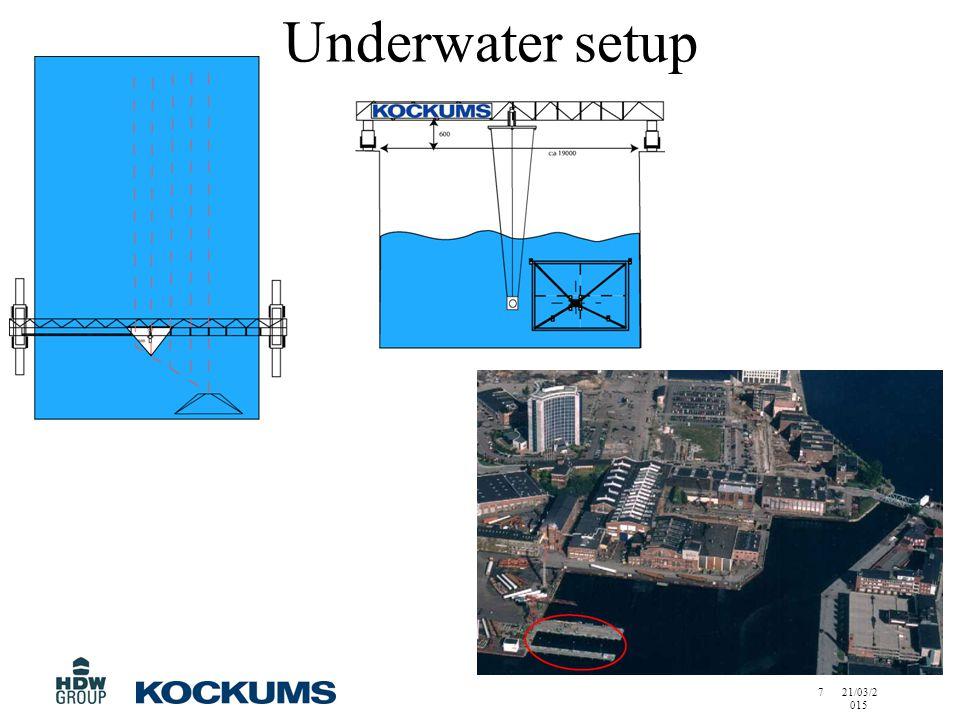 21/03/2015 7 Underwater setup