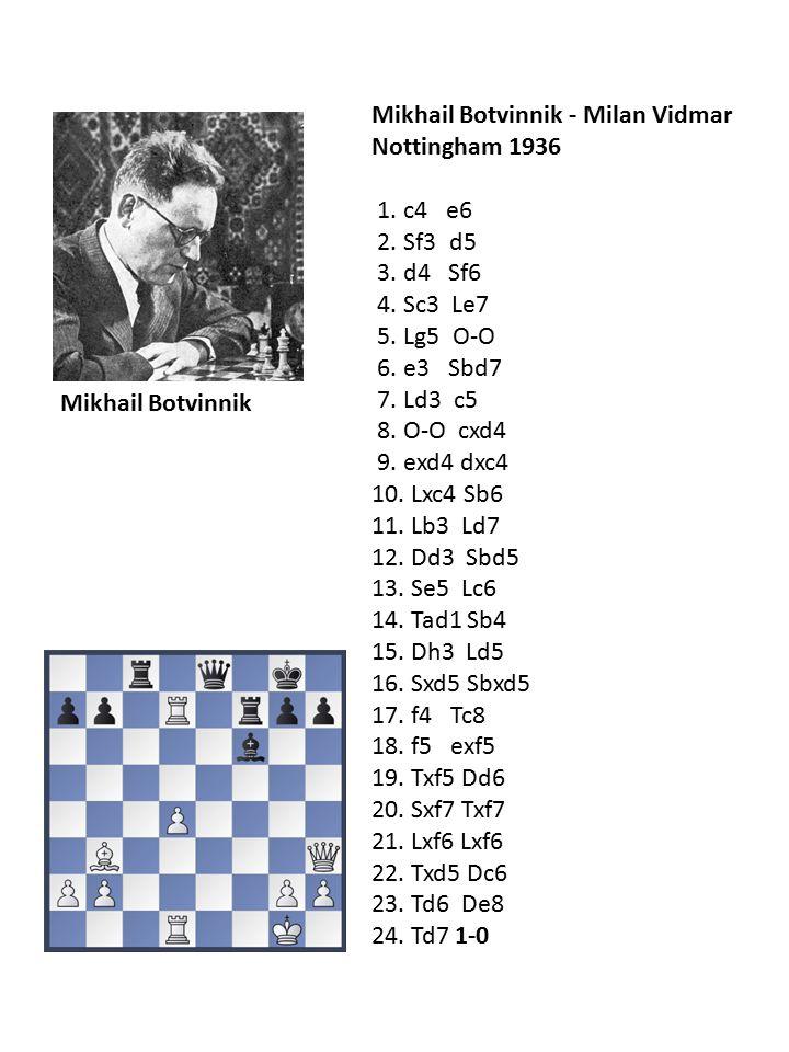Mikhail Botvinnik - Milan Vidmar Nottingham 1936 1.