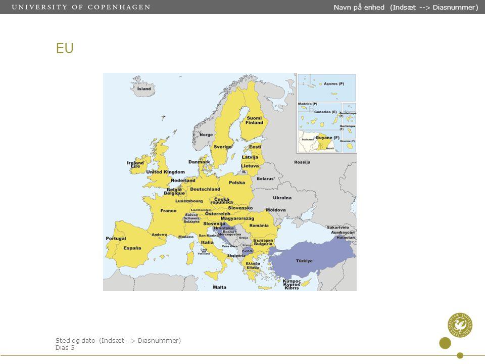 Sted og dato (Indsæt --> Diasnummer) Dias 3 Navn på enhed (Indsæt --> Diasnummer) EU