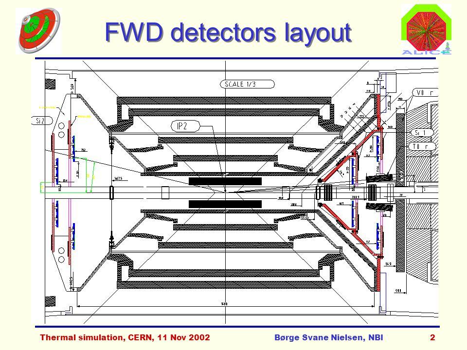 Thermal simulation, CERN, 11 Nov 2002Børge Svane Nielsen, NBI3 Si1, T0_r & V0_r layout