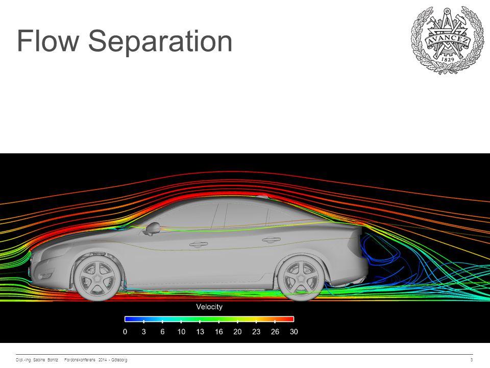 Flow Separation Dipl.-Ing. Sabine Bonitz Fordonskonferens 2014 - Göteborg 3