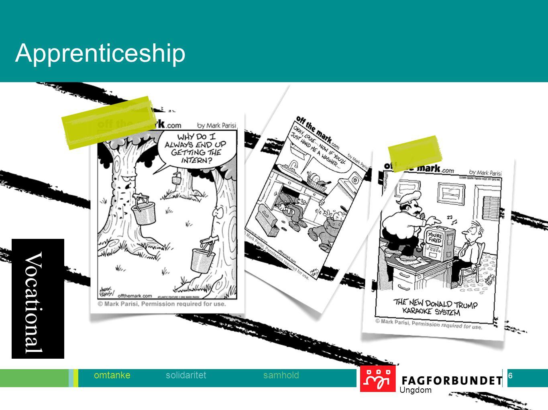 6 omtanke solidaritet samhold Ungdom 6 Vocational Apprenticeship