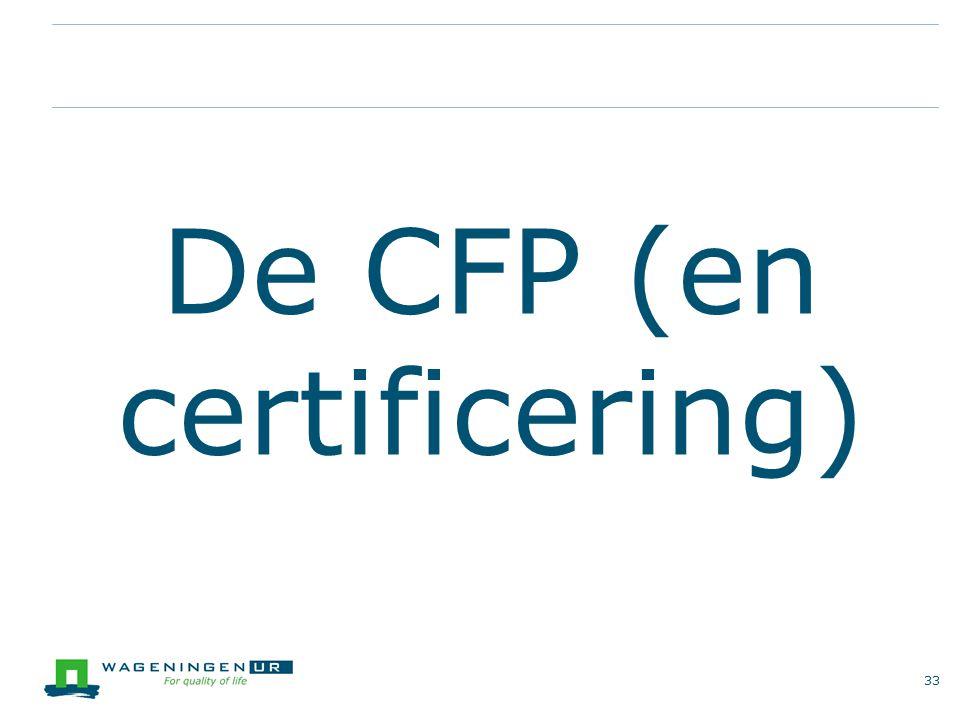 De CFP (en certificering) 33