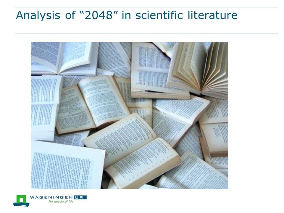 """Analysis of """"2048"""" in scientific literature"""