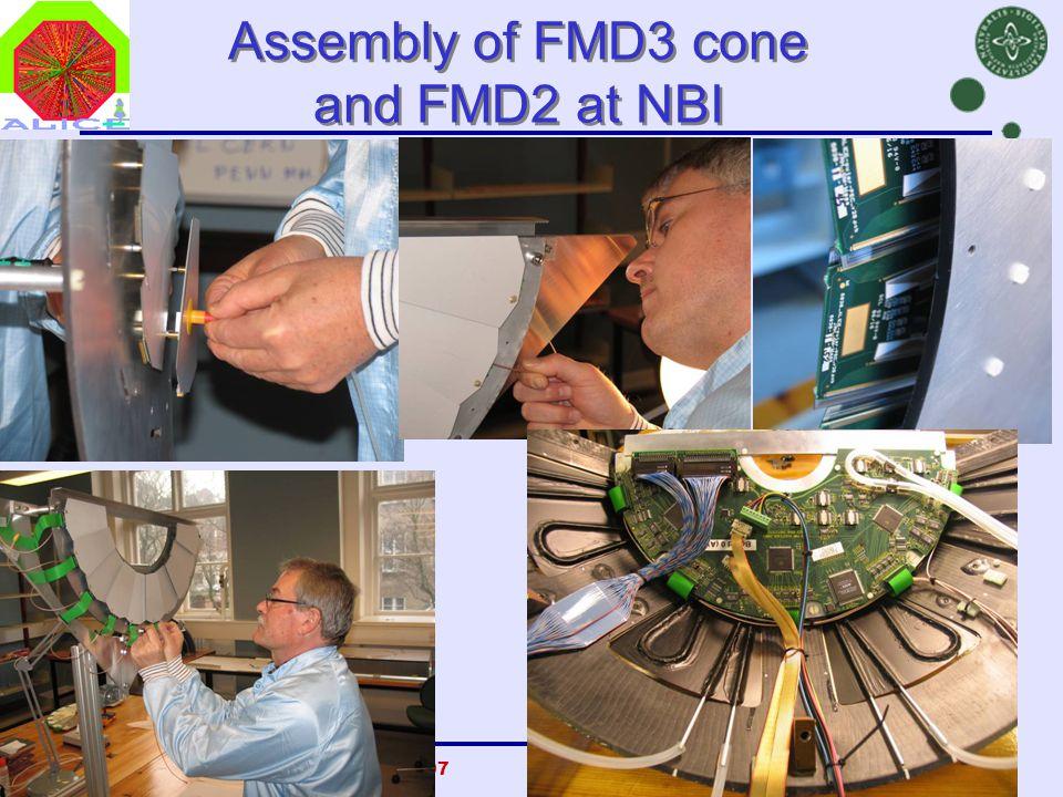Danish Teachers, CERN, 23 Oct 2007Børge Svane Nielsen, NBI33 Assembly of FMD3 cone and FMD2 at NBI