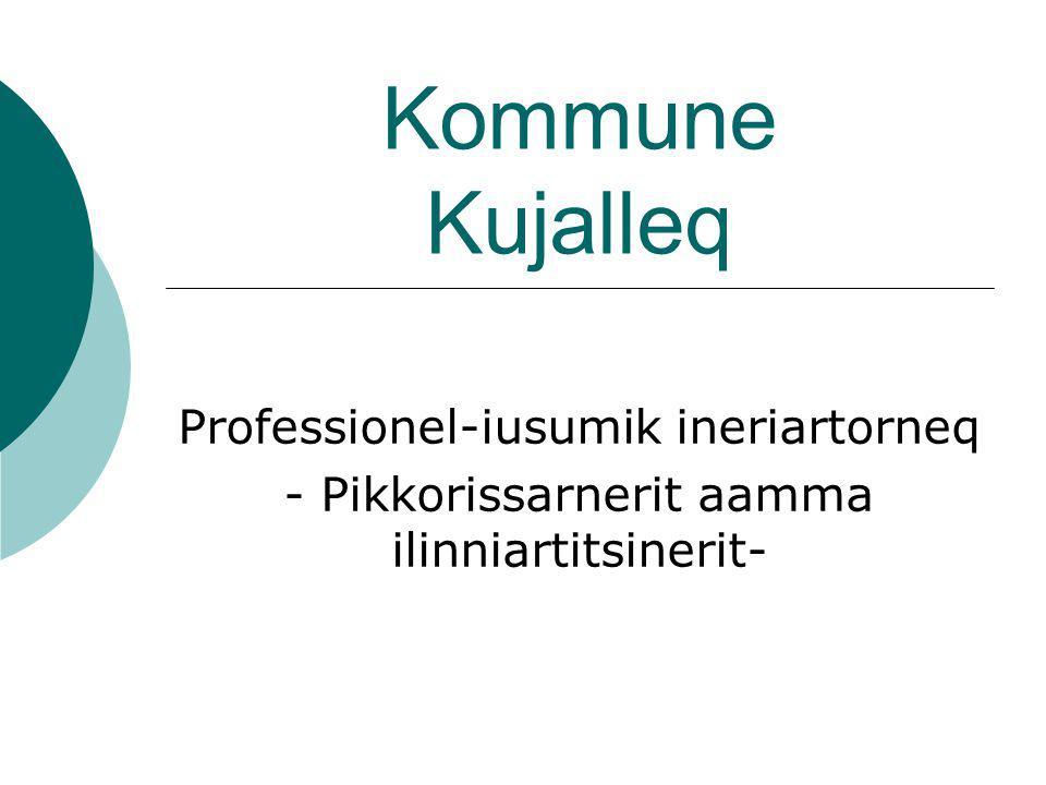Kommune Kujalleq Professionel-iusumik ineriartorneq - Pikkorissarnerit aamma ilinniartitsinerit-