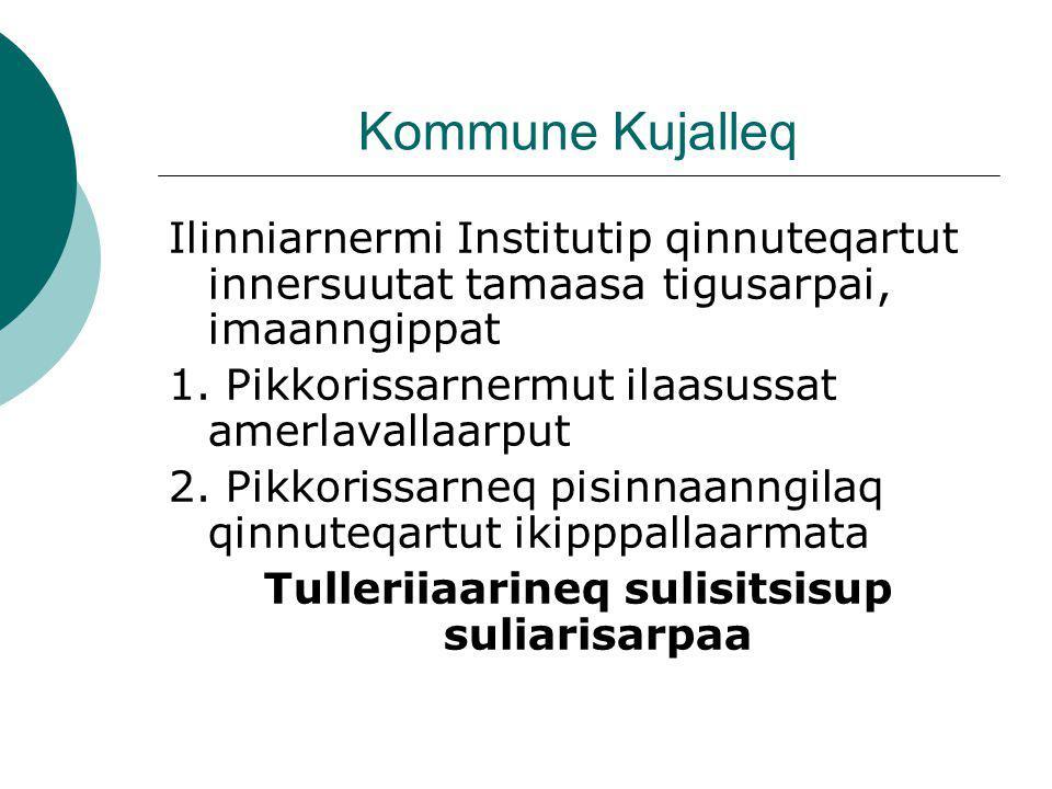 Kommune Kujalleq Ilinniarnermi Institutip qinnuteqartut innersuutat tamaasa tigusarpai, imaanngippat 1.