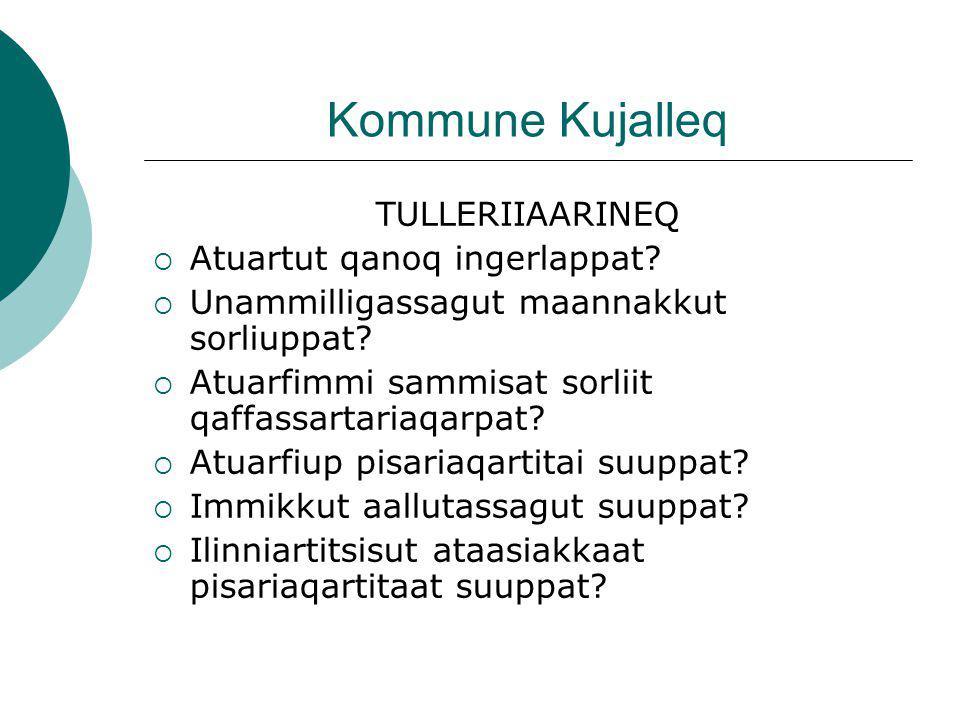 Kommune Kujalleq TULLERIIAARINEQ  Atuartut qanoq ingerlappat.
