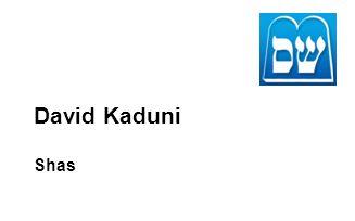David Kaduni Shas